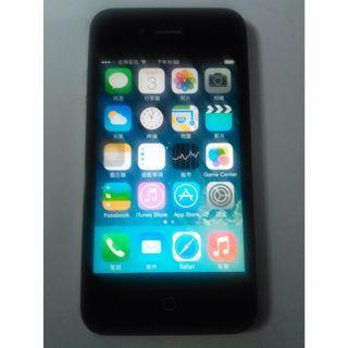 蘋果Apple iPhone 4 16GB智慧3G手機 3G 4G 皆可用,iOS 7.1.2,功能正常,只賣1400元
