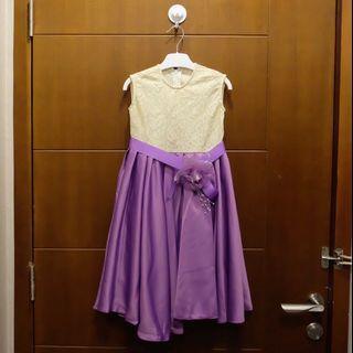 Baju gaun anak perempuan ungu 4th