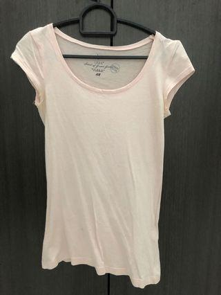 H&M Basic Light Pink Tee (organic cotton)