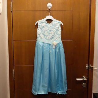 Dress anak perempuan biru 5th