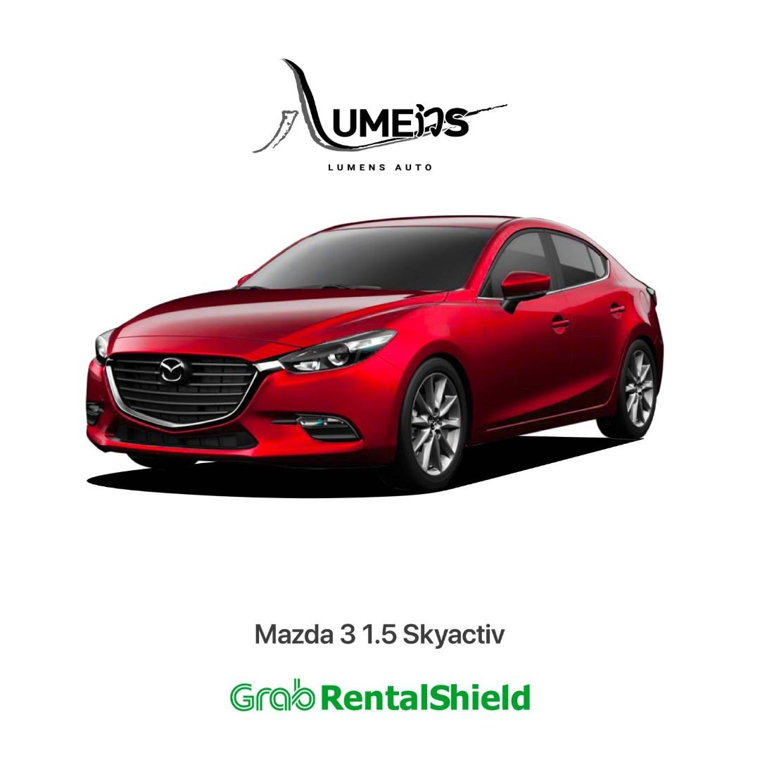 5 Seaters Rental Car for Leasing Mazda 3