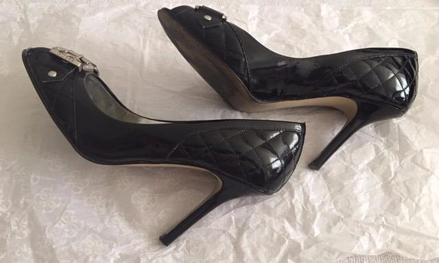 "95% New Black Guess open toe heels 3.5"" High Heels,  Color: Black,  Size: 6.5,"
