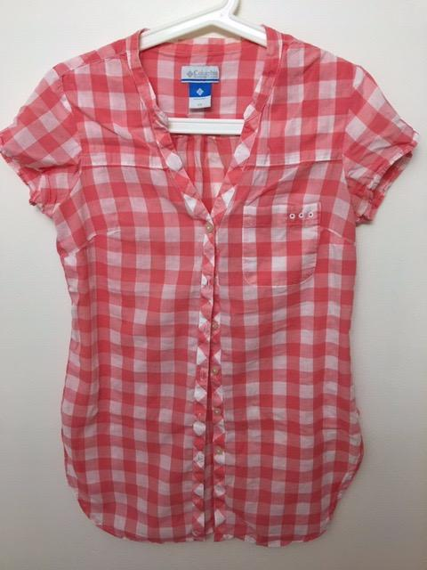 95% New Columbia Checked shirt Size: XS  Condition: Like new