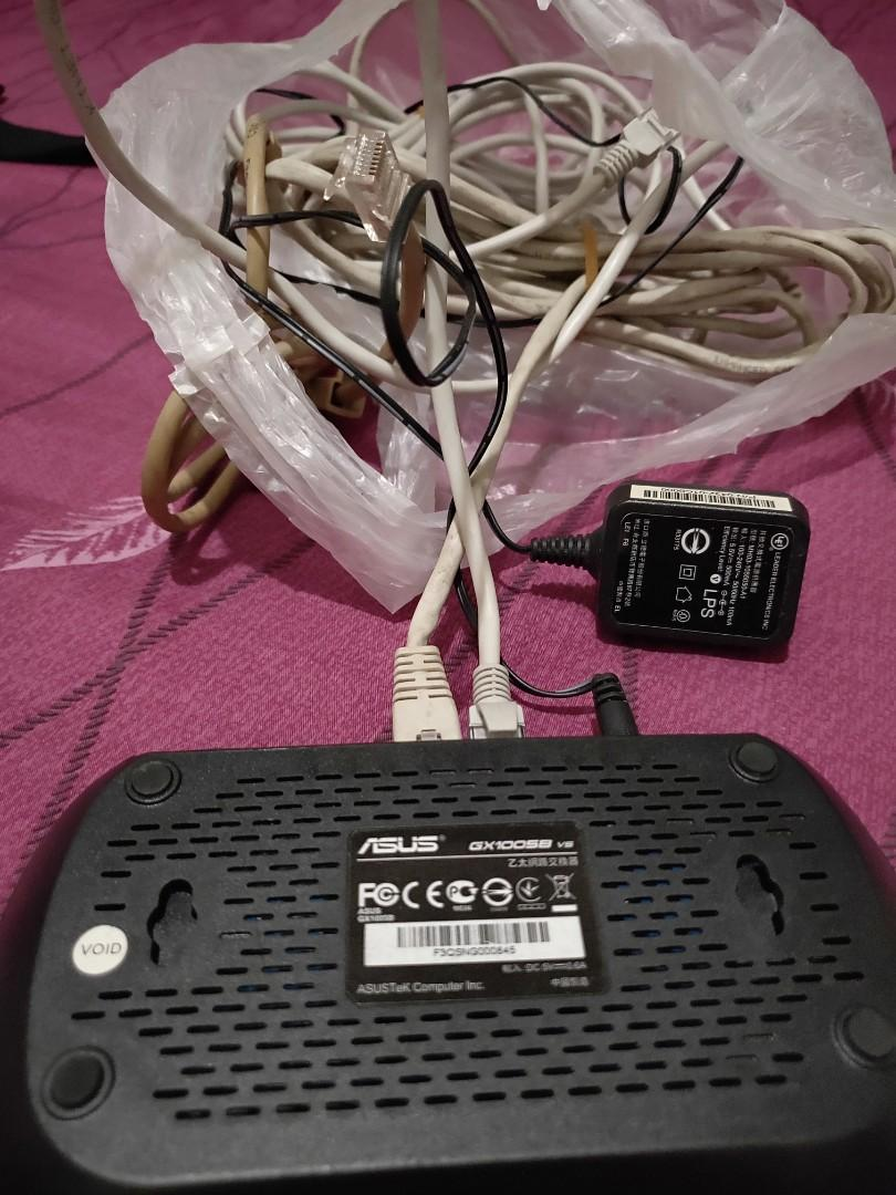 網路交換器分享加兩條網路線