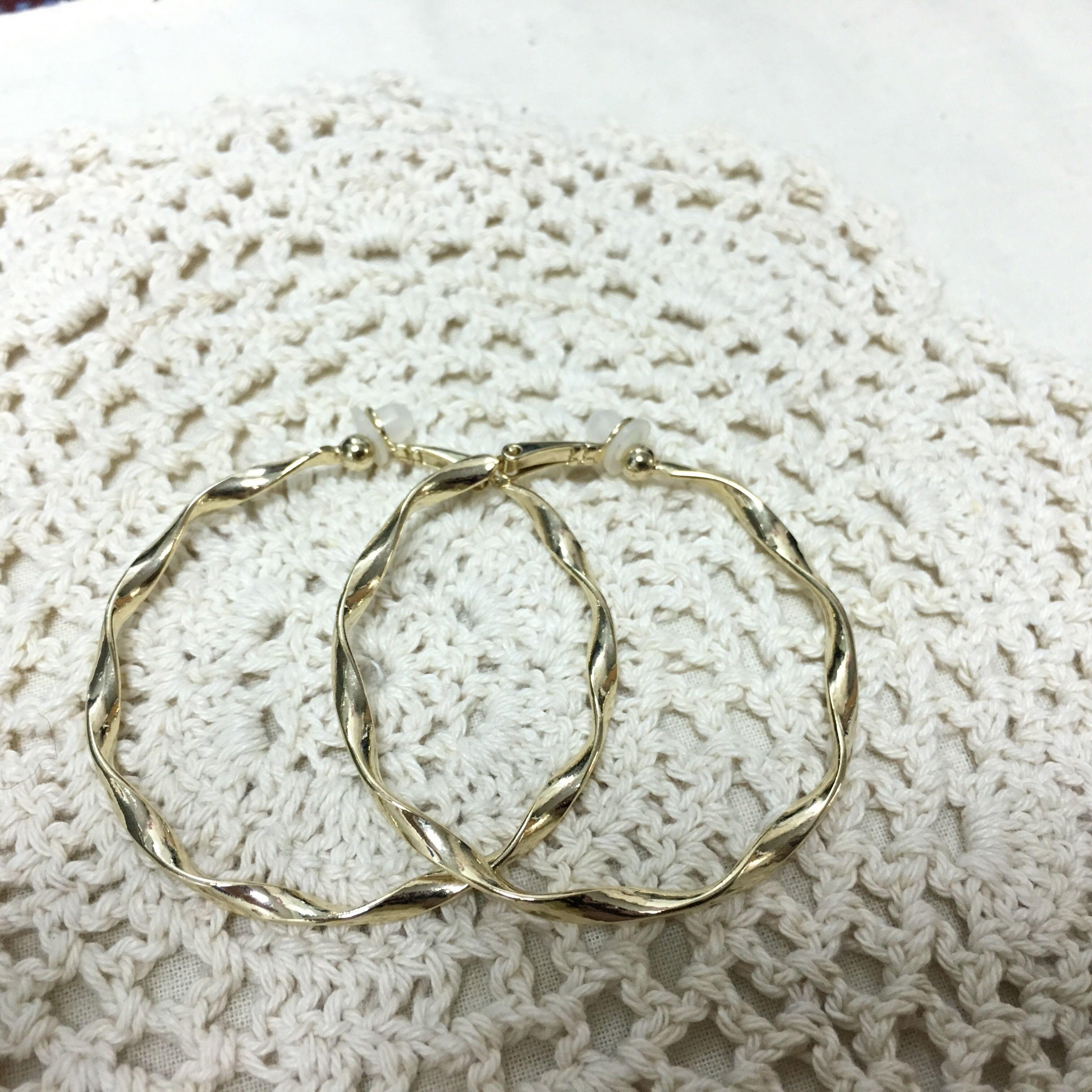 歐美大圈夾式耳環