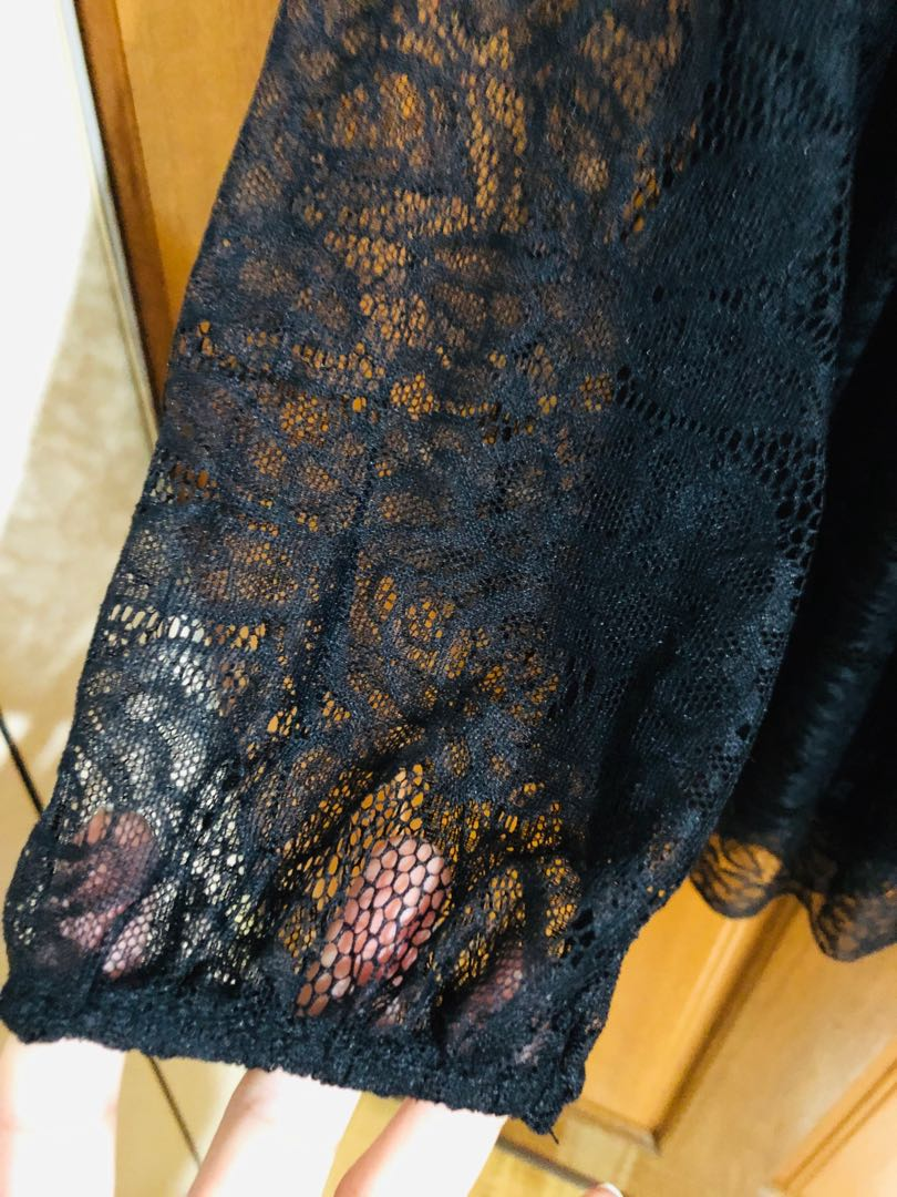 鏤空蕾絲長袖洋裝