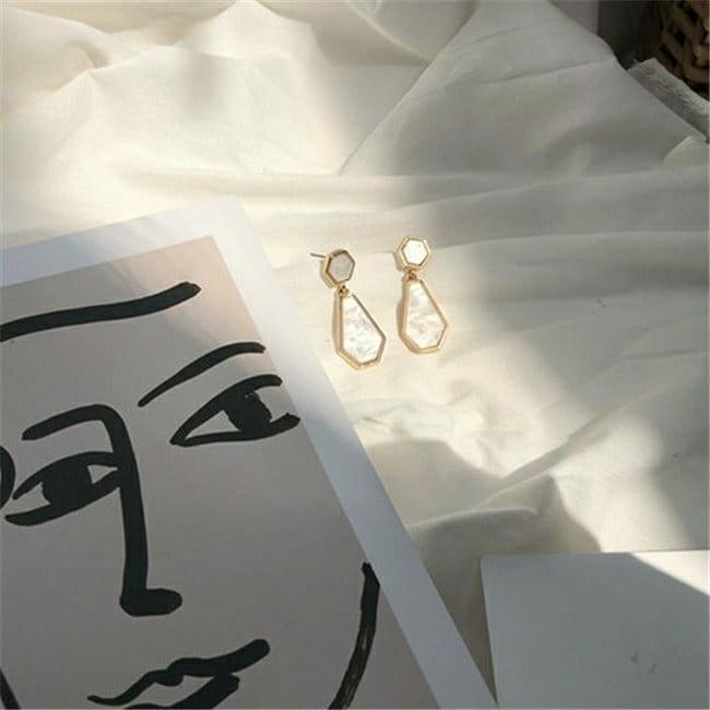 多邊形氣質耳環