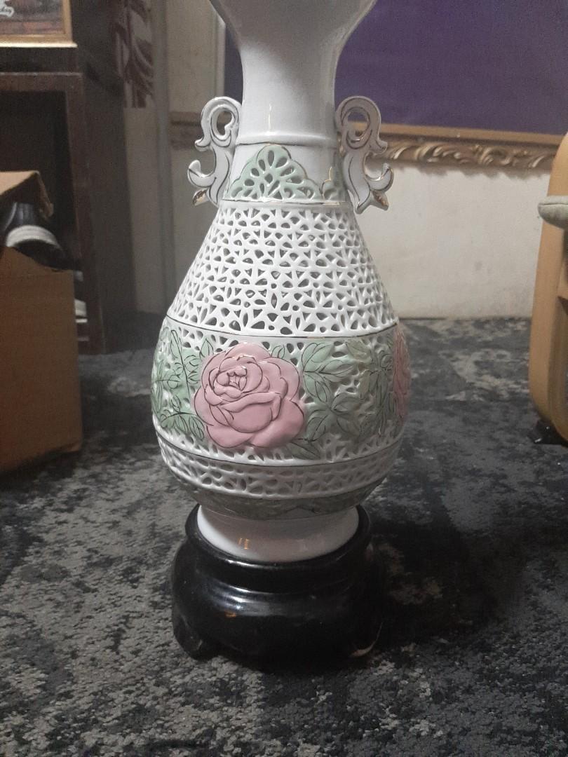 通花 古董 花瓶