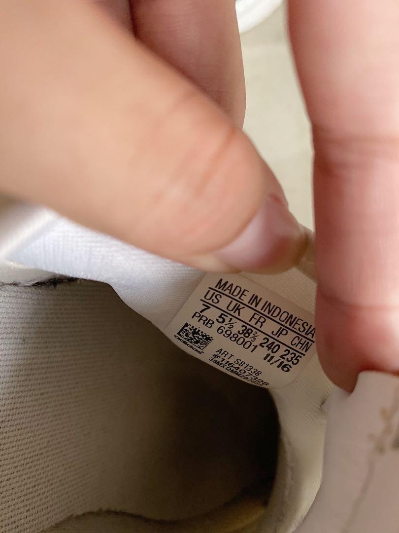 愛迪達 日本購入 adidas 正版 白鞋 24cm 超好穿!!!阿嬤媽媽小孩都愛