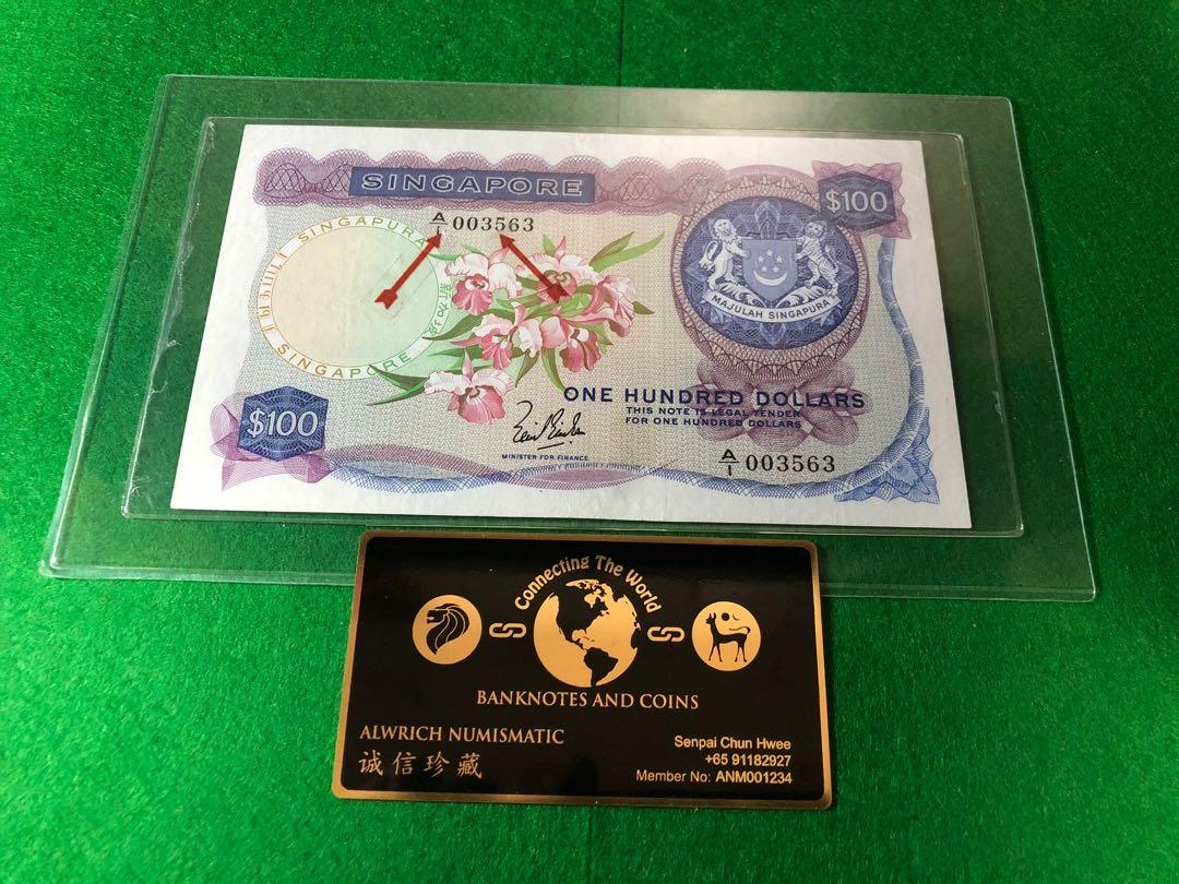 A1 Series - 3563th Piece of VF++ Orchid Series $100