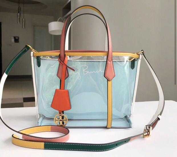 Auth Tory Burch Perry Clear Tote