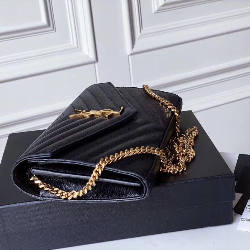 Authentic Pre-loved YSL Saint Laurent Envelope Chain WOC Wallet On Chain