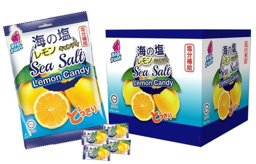 BigFoot 海鹽檸檬糖 每包150公克X6包入-吉兒好市多COSTCO代購
