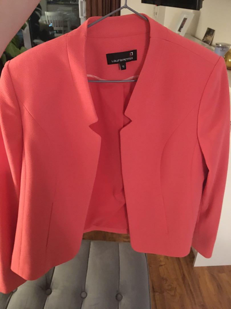 "Brand new Laura Petite Fuchsia Jacket ""never worn"" size 12"