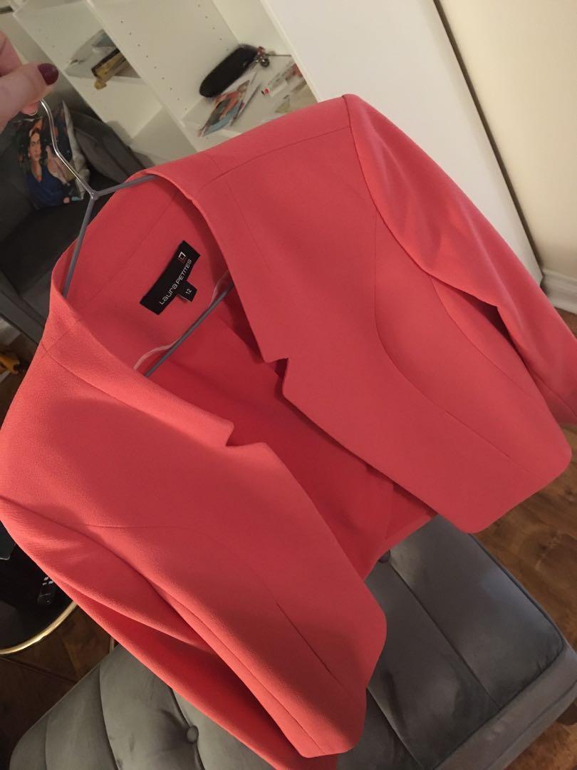 "Brand new Laura Petite Fuchsia Jacket ""never worn"" size 12"