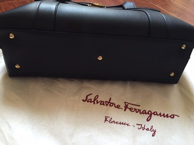 Brand New Salvatore Ferragamo Black Hand bag+ removable pouch