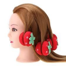 Brand new strawberry sponge hair curler Total 12 pcs