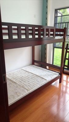 Bunk Bed001 Brown / White 上下格床 上下鋪 碌架床 實木