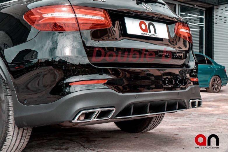 Double b 賓士 BENZ W253 X253 GLC SUV Coupe 尾飾管 尾管 黑色 銀色 密合度百分百