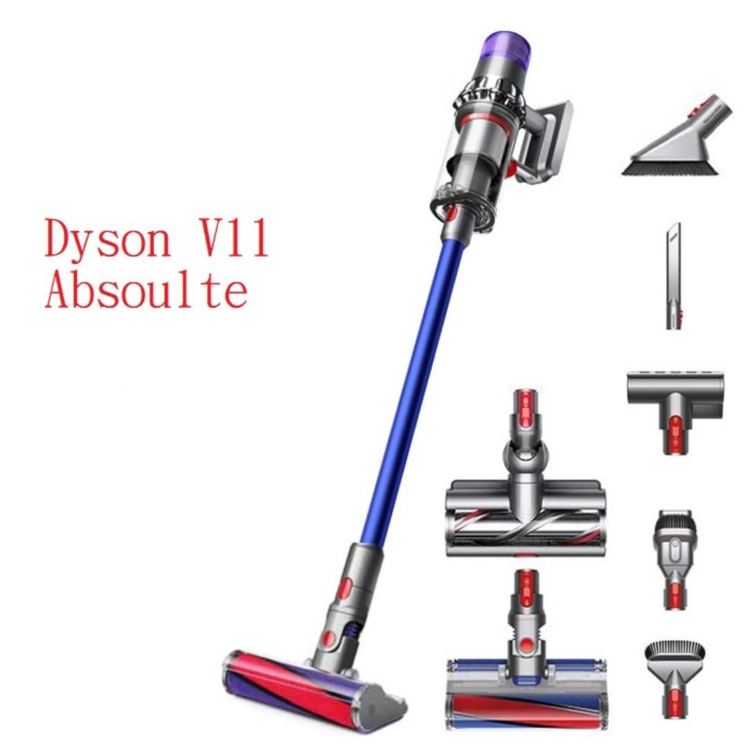 Dyson V11 absolute 無線吸塵機, Dyson V11 Absolute Vacuum Cleaner 6吸頭 三腳插