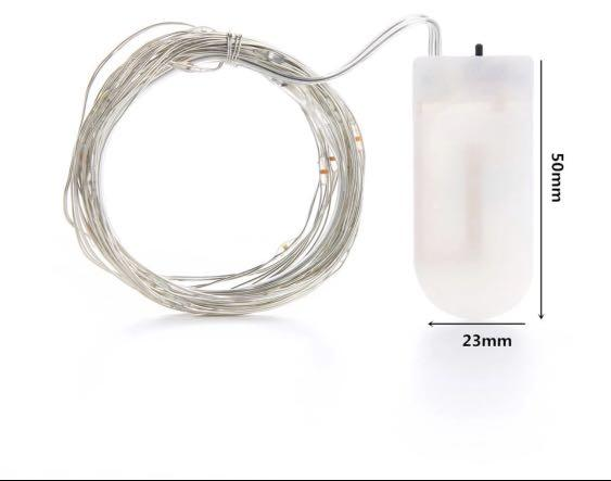 Fairy Lights Silver wire Warm/ White/Rainbow LED Lights