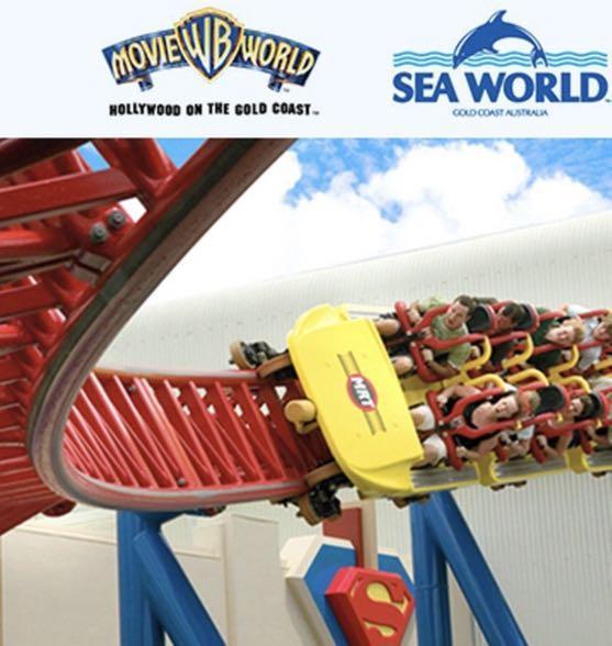 Gold Coast theme park tickets, movie world, sea world, wet n wild