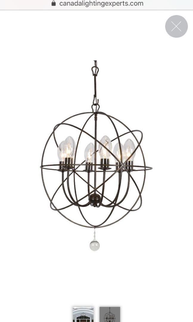 Gorgeous brand new RH inspired Outdoor Chandelier!!!
