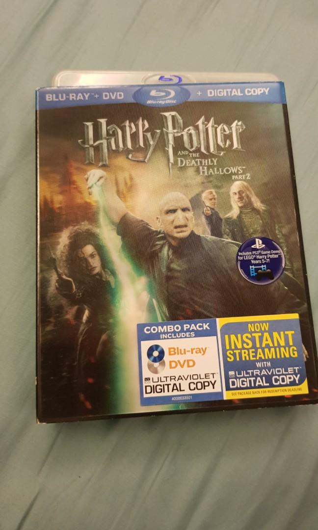 Harry Potter Deadly Hallow Part 2 Blu Ray