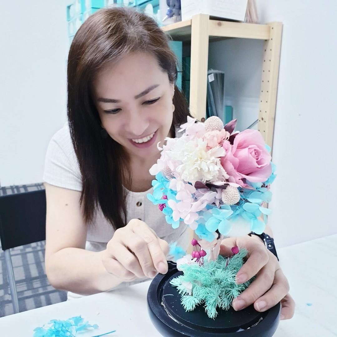 December Christmas Special Hobby Class | Preserved Flower | Rose | Hydrangea | 花艺