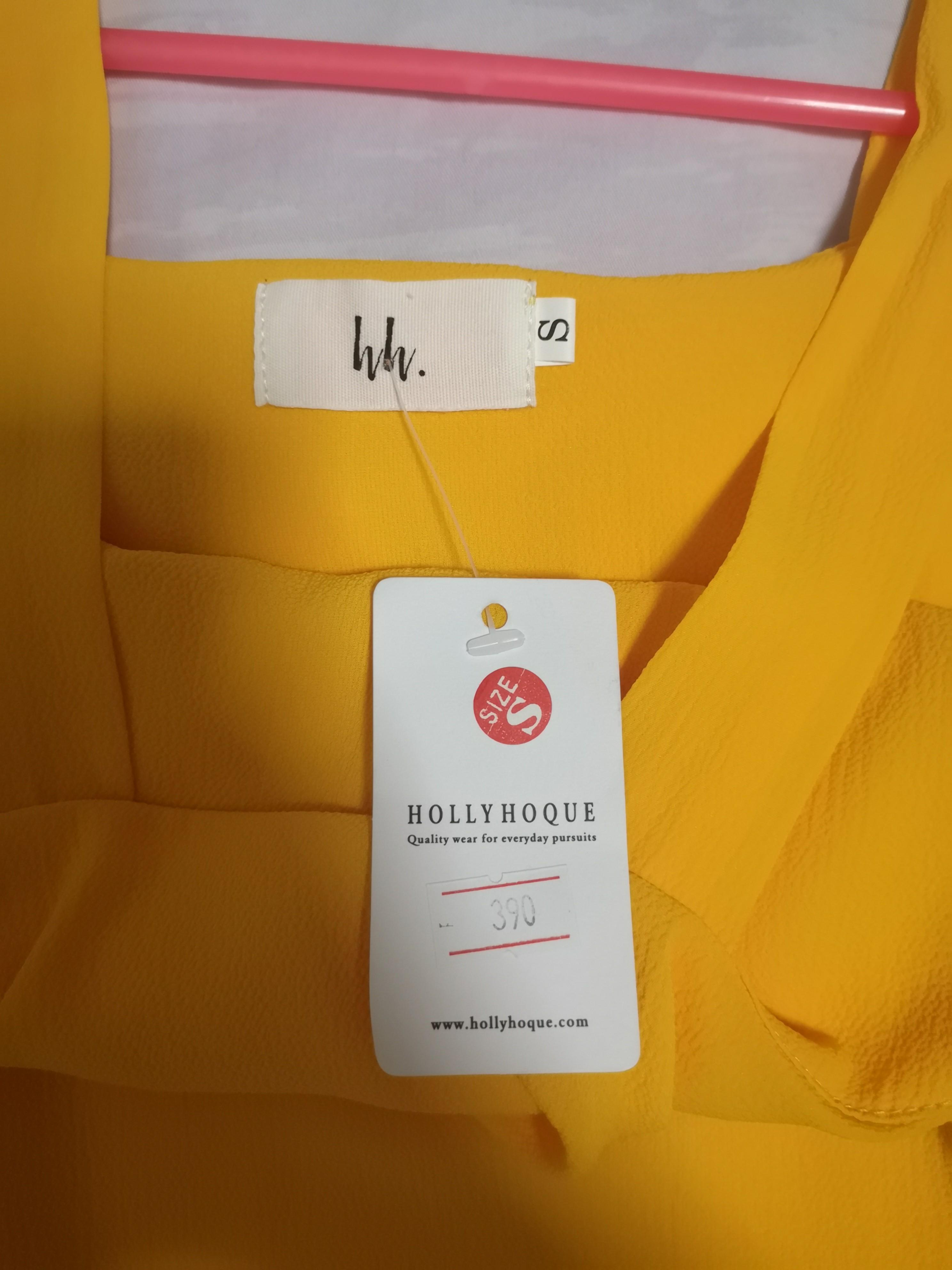 BNWT Hollyhoque Yellow Off Shoulder Top