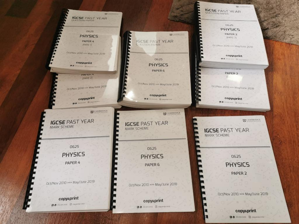 IGCSE Physics Past year paper 2,4 & 6