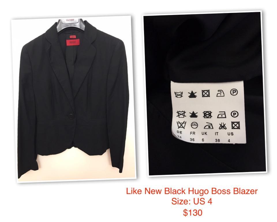 Like New Hugo Boss Women Blazer  Size: US 4  Colour: Black