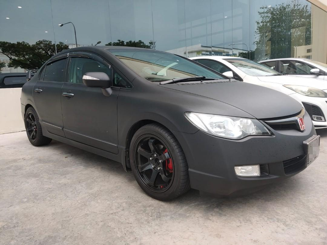 Matt Black Civic for Lease!