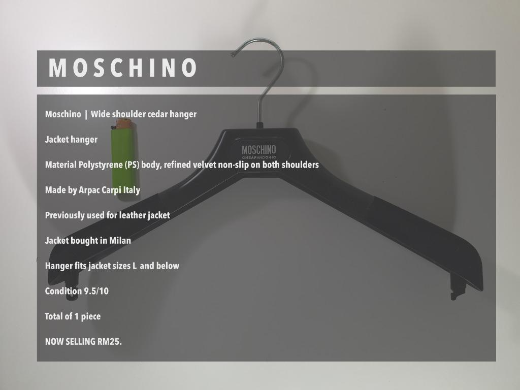 Moschino Jacket Hanger / Branded Designer Hanger / Made in Italy / Original / Authentic
