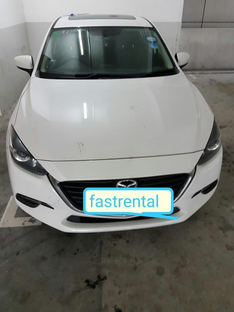 Short term rental - New Mazda 3 skyactiv 2017