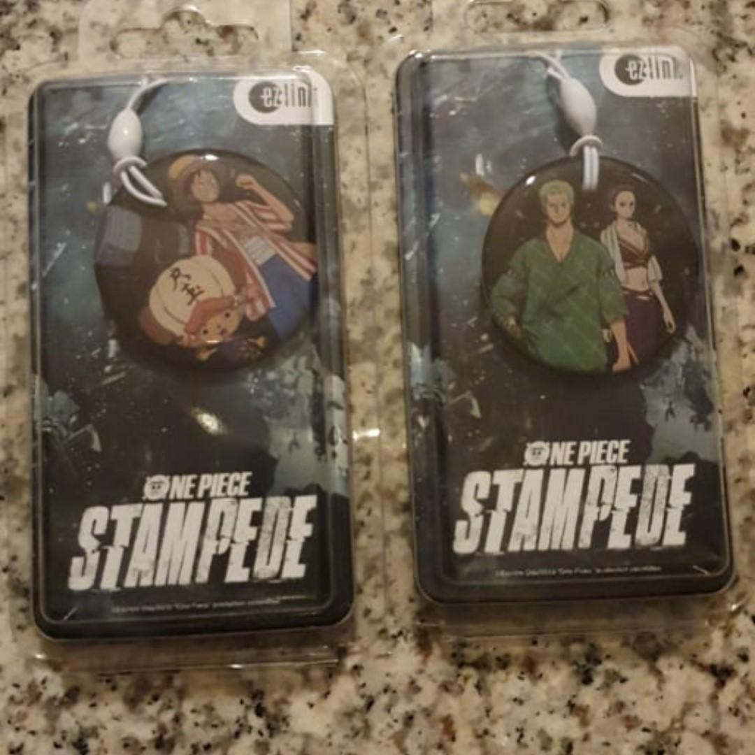 One Piece - Stampede - Luffy & Chopper ezlink Charm + Zorro & Nico Robin ezlink Charm