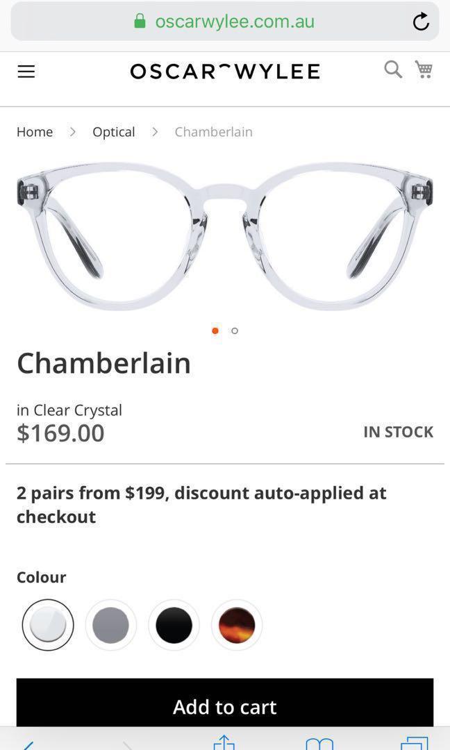 Oscar Wylee Chamberlain glasses brand new