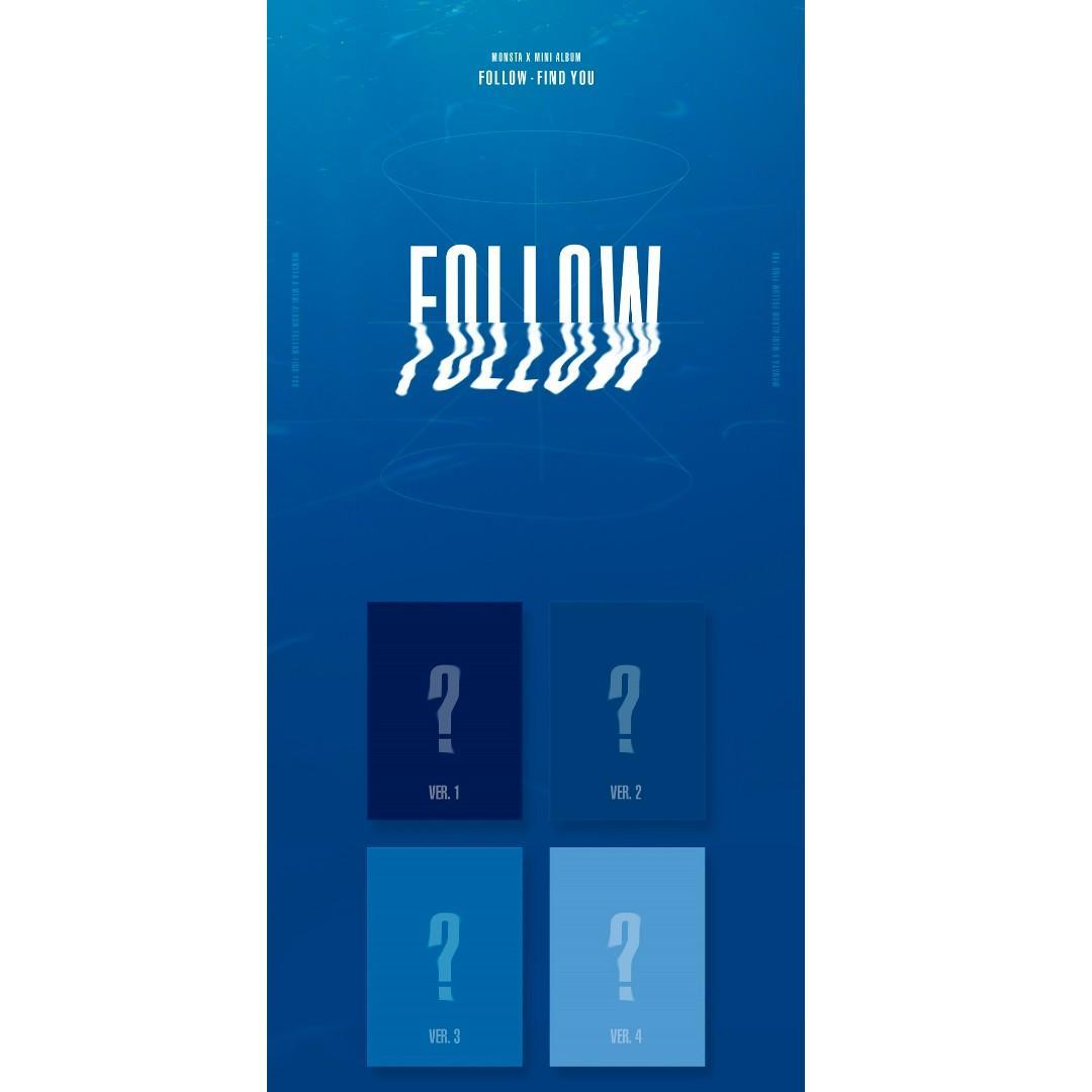 [PREORDER] MONSTA X - 'FOLLOW'_ FIND YOU / Mini Album