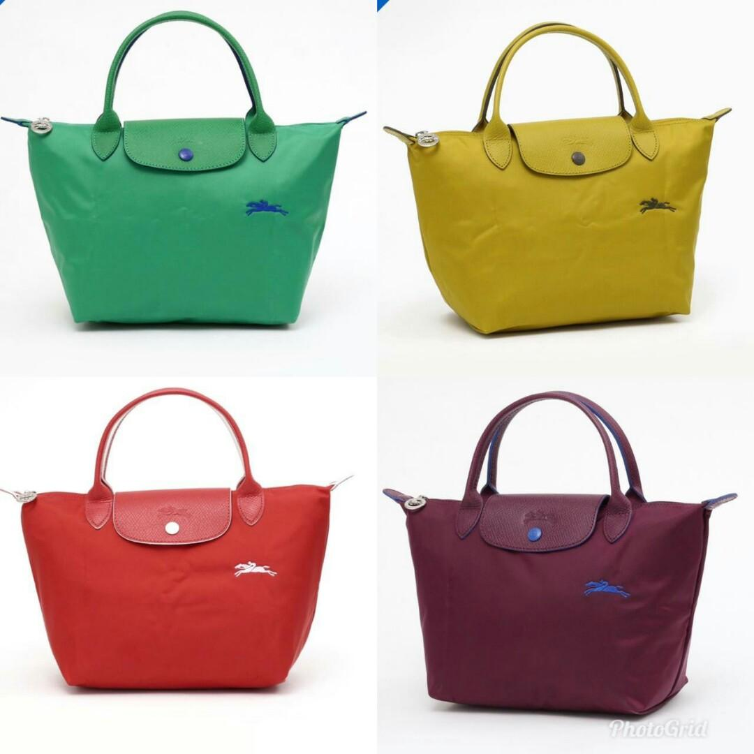 READY Longchamp Neo Short Long Handle - Green - Red - Mustard - Purple