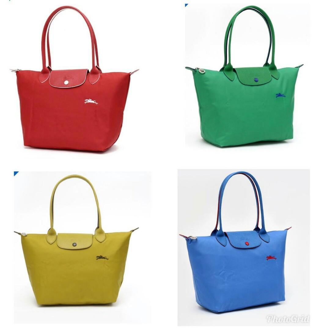 Ready Longchamp Neo Small Long Handle - Red - Green - Mustard - Blue