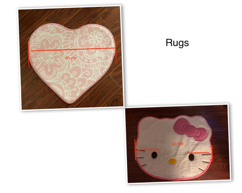 Rugs: Round,Heart shaped,Hello Kitty Face , from $5