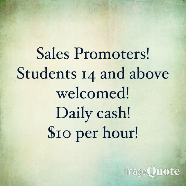 Sales Promoter (Students Welcomed)