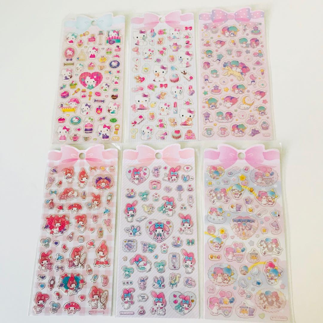 Sanrio (Hello Kitty, My Melody, Little Twin Stars) Sticker Sheets
