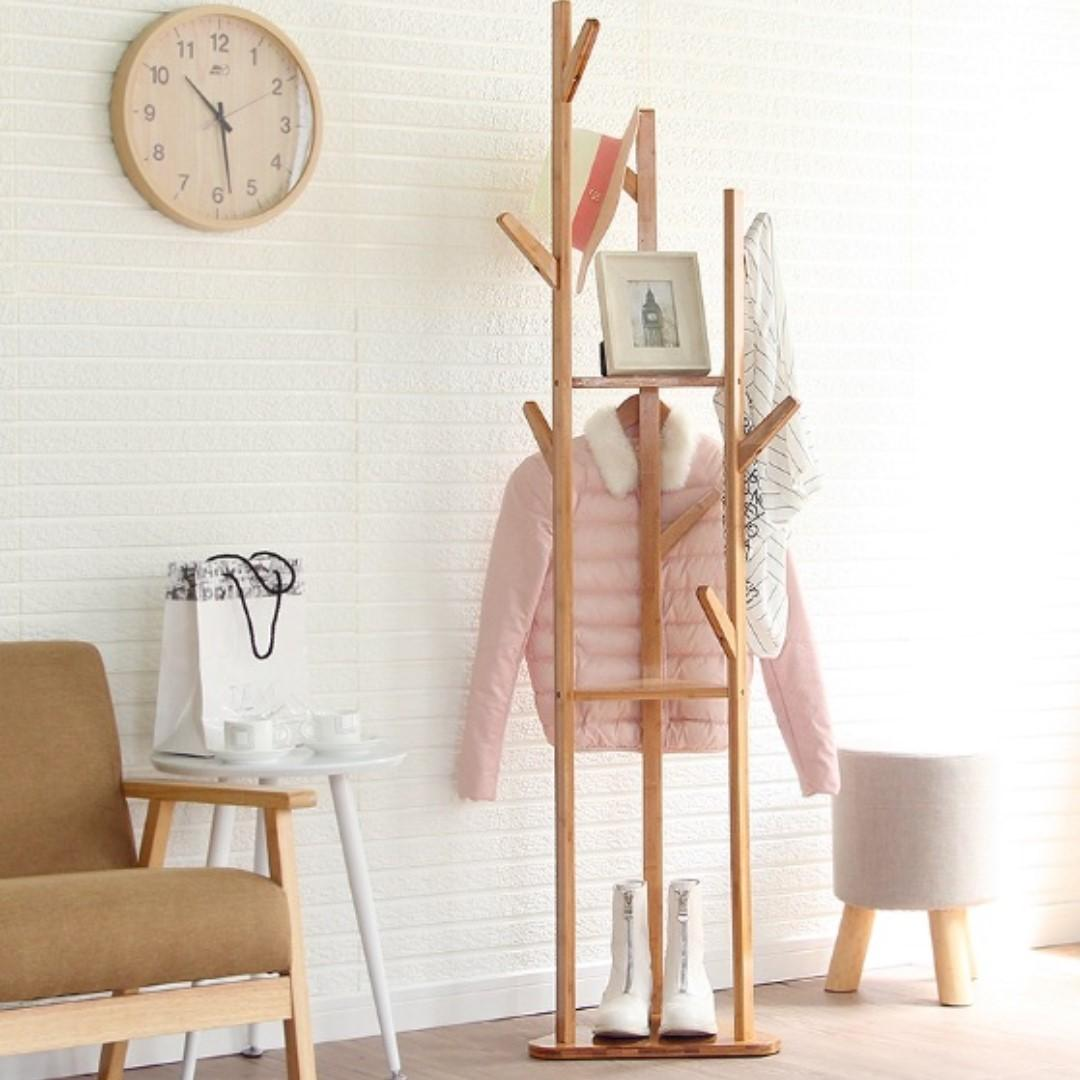 [SAVE5] Solid Wood Tree Branches Clothes Hanger Coat Stand