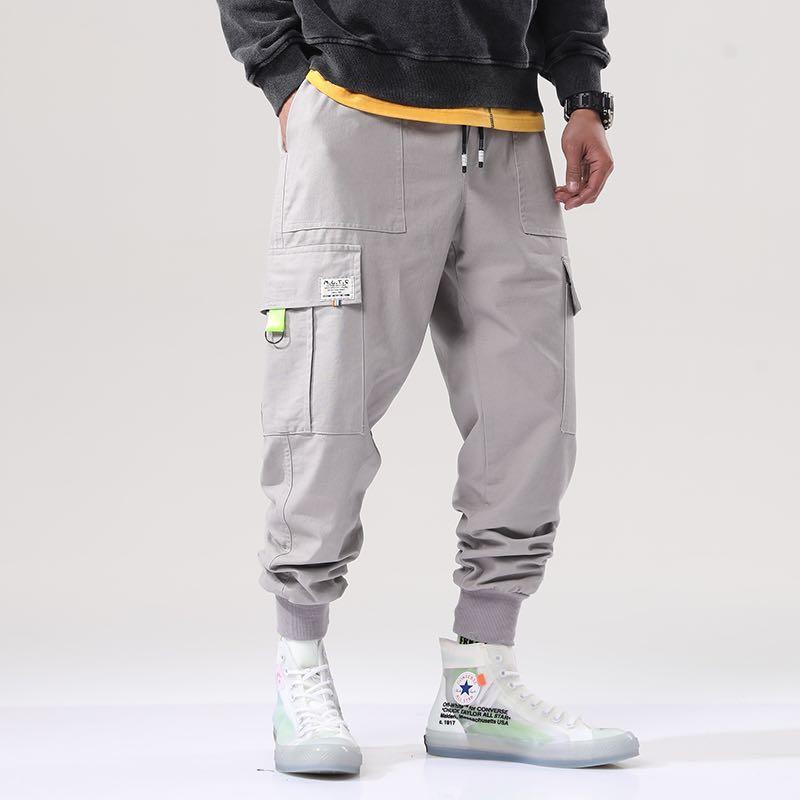 🇯🇵🇰🇷日韓系Streetwear多袋工裝褲束腳褲#1010sale