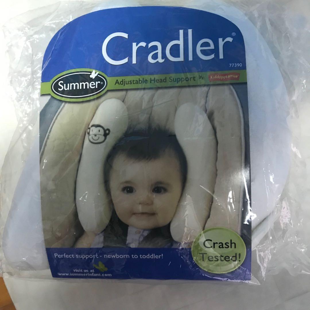 Summer Infant cradler 可調式寶寶頭部保護枕/護頸枕/香蕉枕 米色