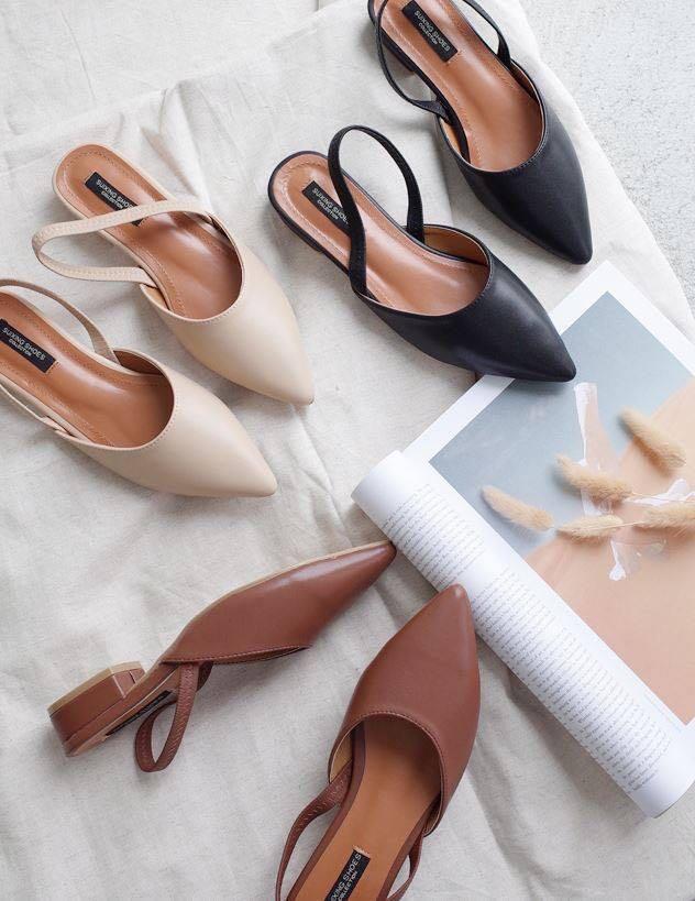 Sweesa正韓 氣質低跟尖頭鞋38/24 #五折清衣櫃