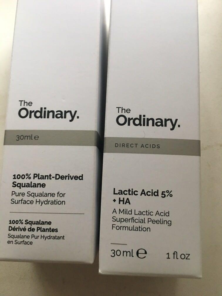 The ordinary lactic acidosis 5%+HA And 100% plant squalane