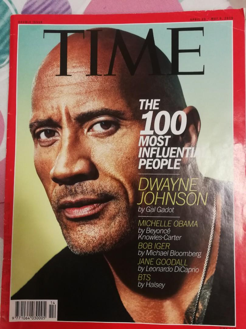 Time Magazine (April/May 2019) - The Rock Cover, featuring BTS, Taylor Swift