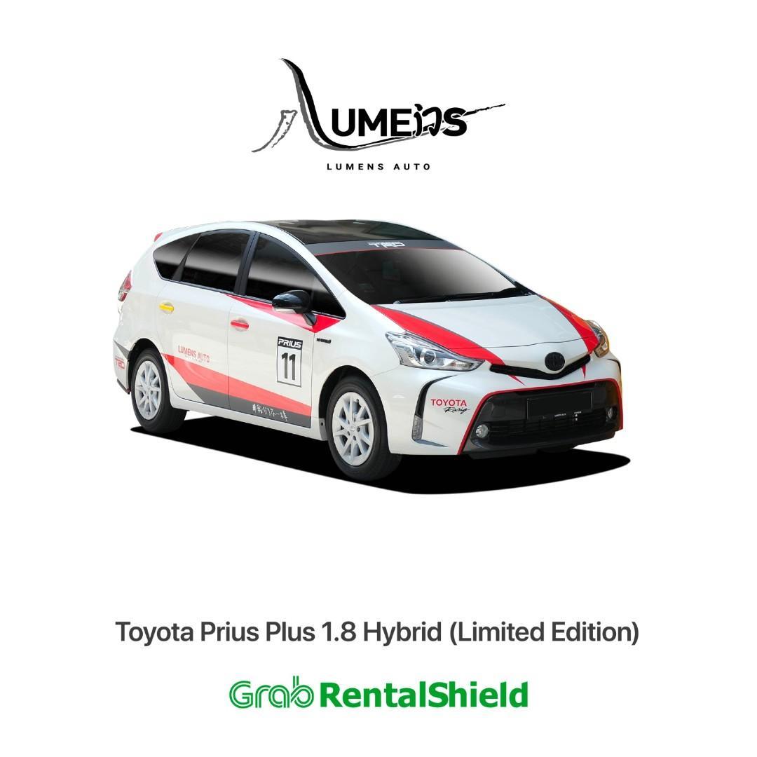 Toyota Prius Plus the NO1 MPV Car Rental for Grab / Use